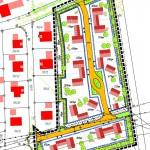 Bebauungsplan für ein kleineres Baugebiet vom Ingenieurbüro Härtfelder